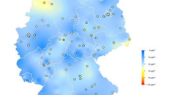 Current Map Of Germany.Current Concentrations Of Air Pollutants In Germany Umweltbundesamt