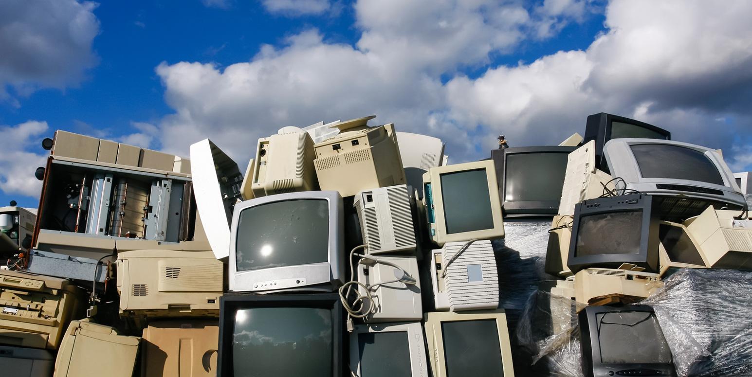 Bild einer Sammelstelle für Elektro- und Elektronikabfälle