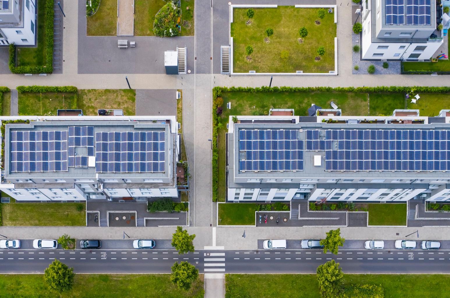 Photovoltaikanlage auf Dachflächen