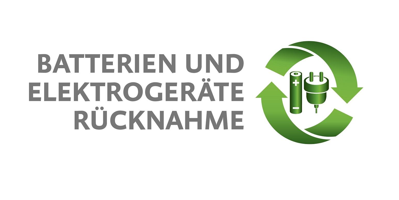 einheitliches Sammelstellenlogo für Batterien und Elektroaltgeräte