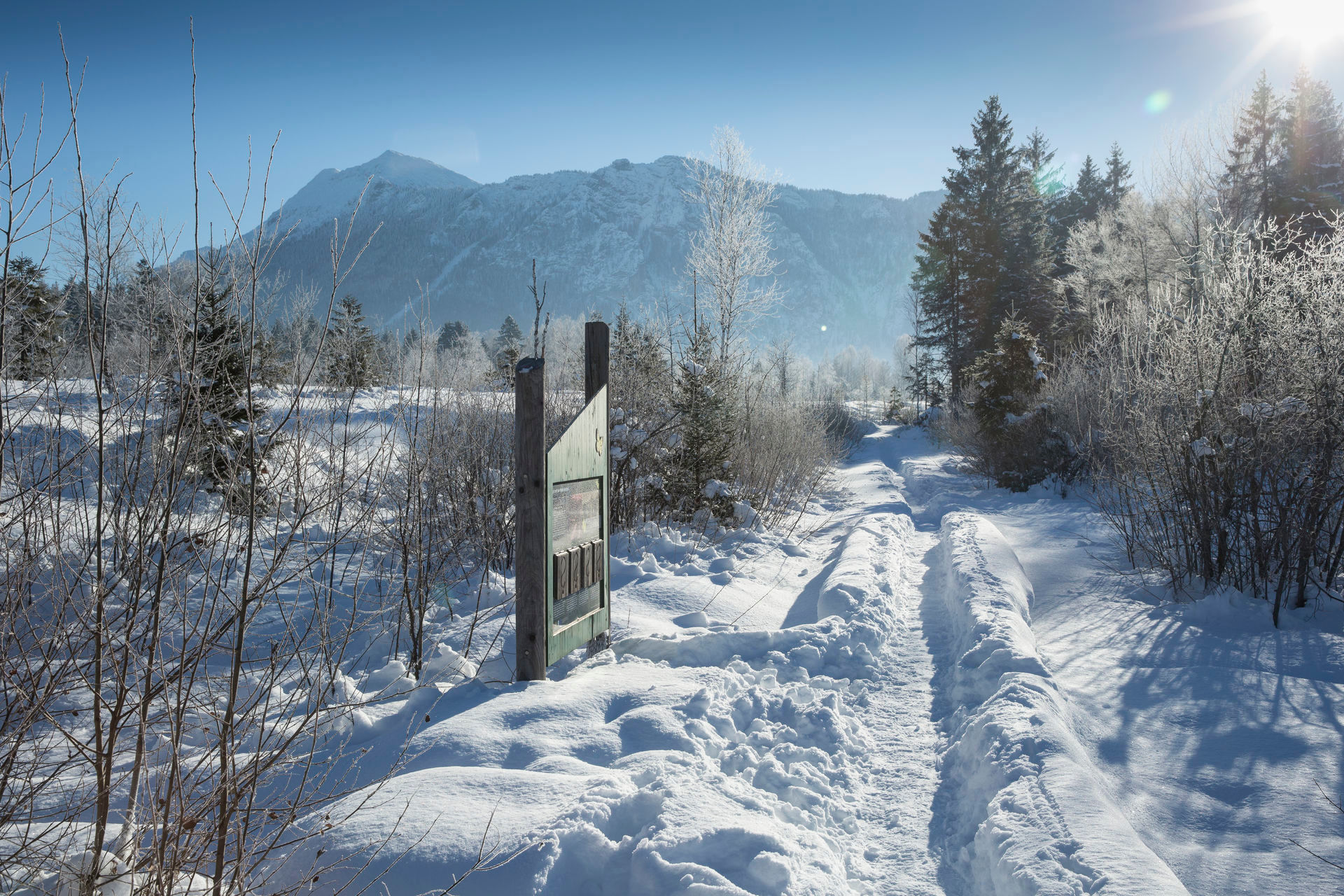 Panoramablick im Winter