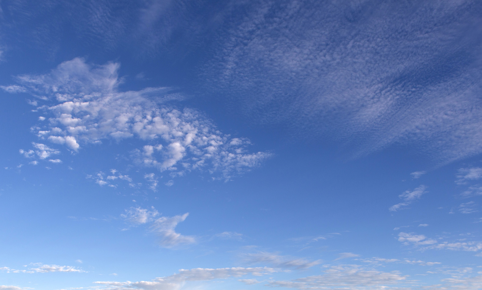 Blue sky with light clouds