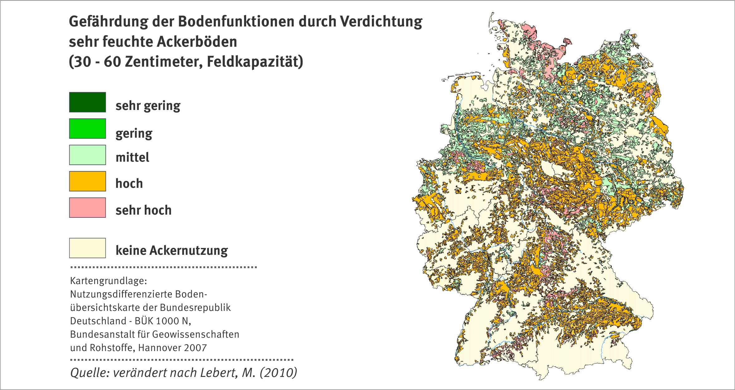 Verdichtung umweltbundesamt for Boden deutschland