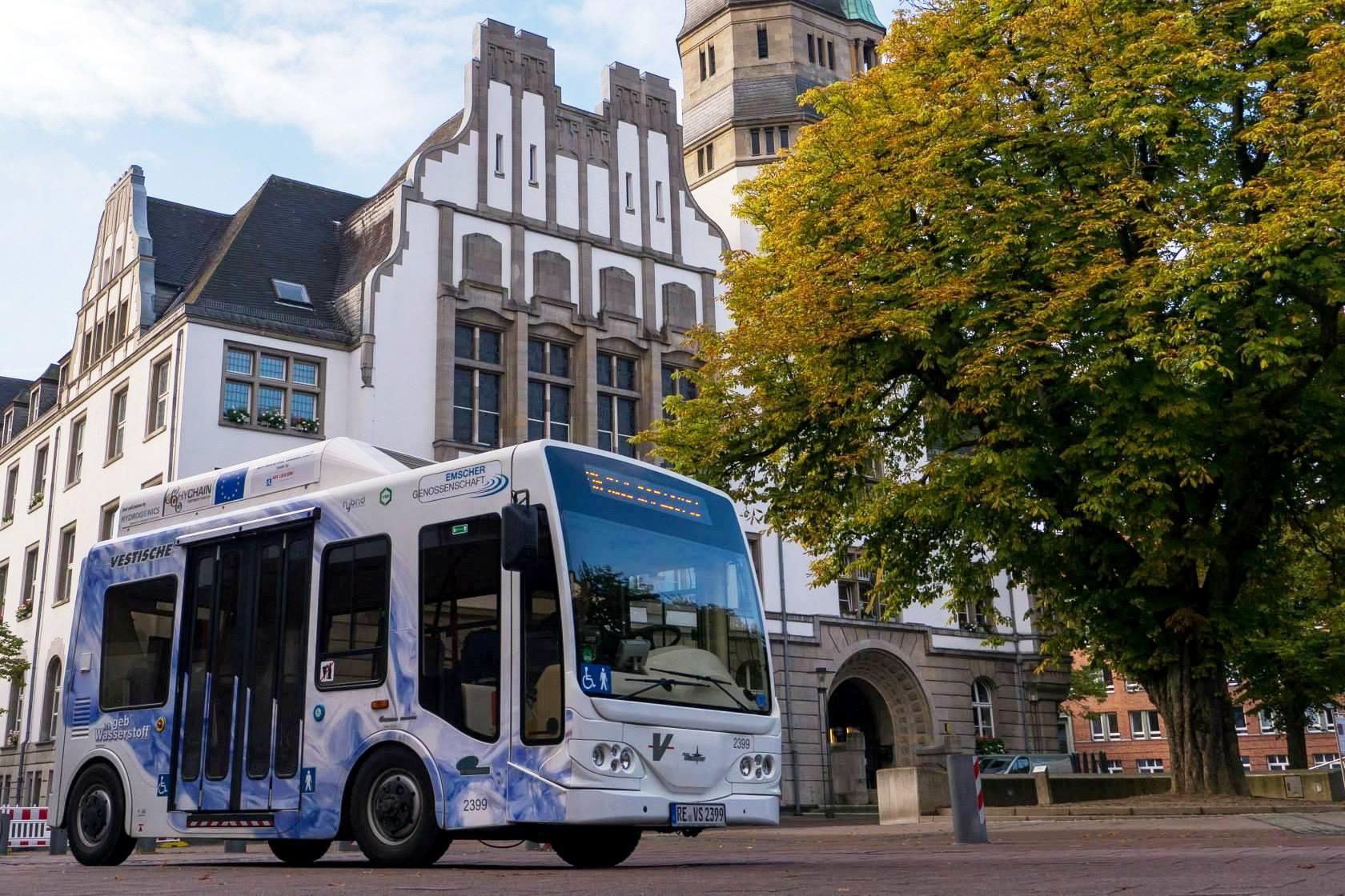 EU-Projekt HyChain-Minitrans - Brennstoffzellenbus Gladbeck