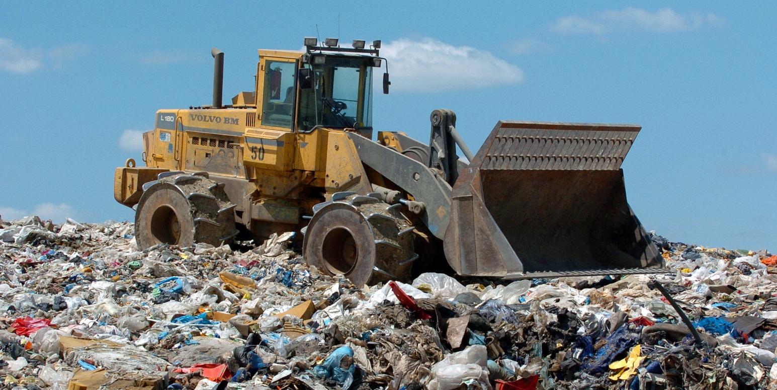 Trash Compactor Internationale Initiative Hilft Abfallwirtschaft Beim