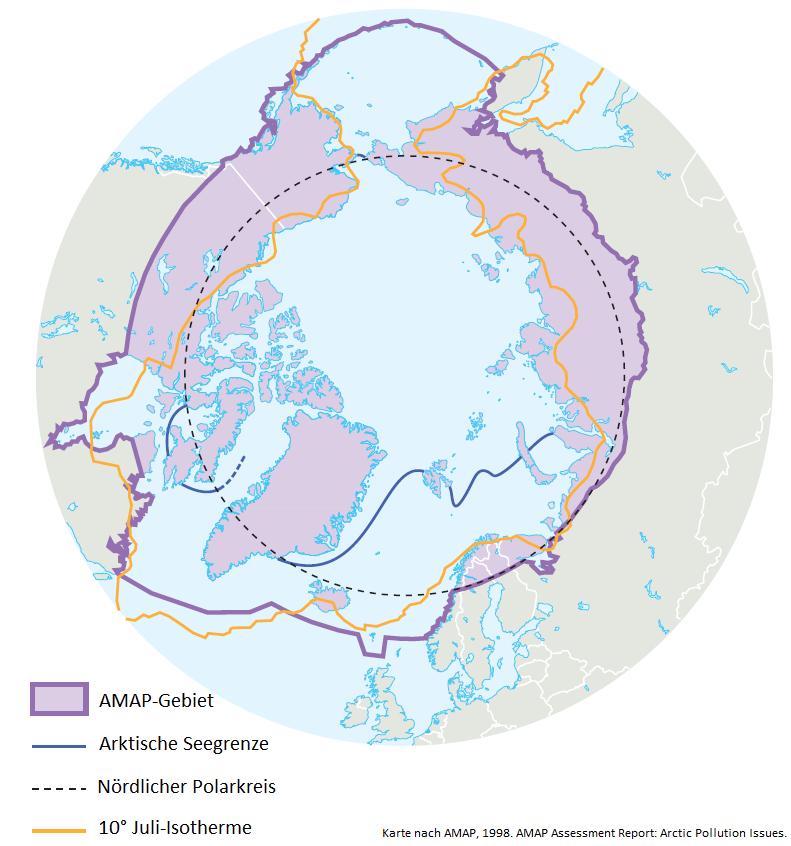 Polarkreis Alaska Karte.Geographie Der Arktis Umweltbundesamt