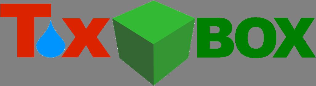 """Logo des Tox-Box-Projekts: Es zeigt den Shcriftzug """"Tox Box"""" mit einem blauen Wassertropfen und einer grünen Box"""