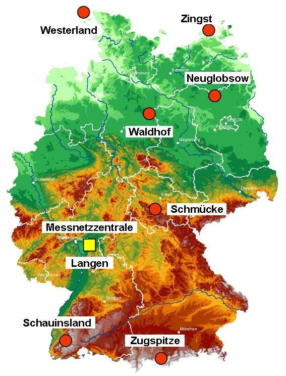 Luftmessnetz des Umweltbundesamtes (C) Umweltbundesamt