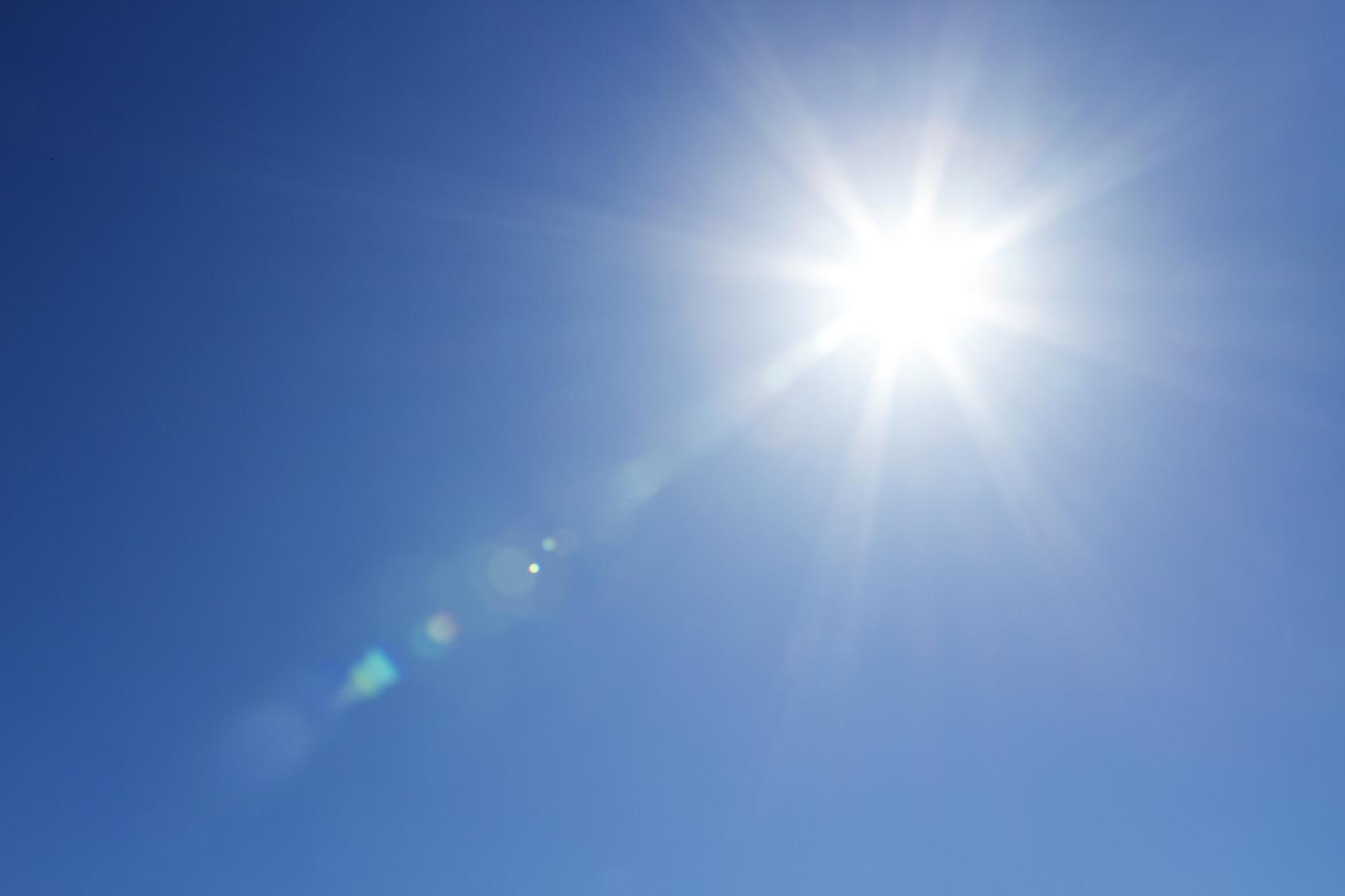 Blauer Himmel Sonne
