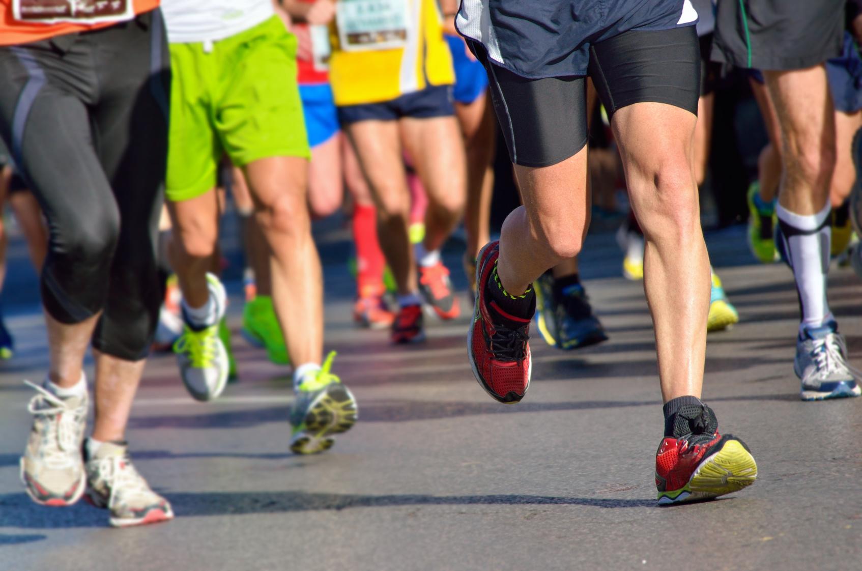Menschen bei Laufen