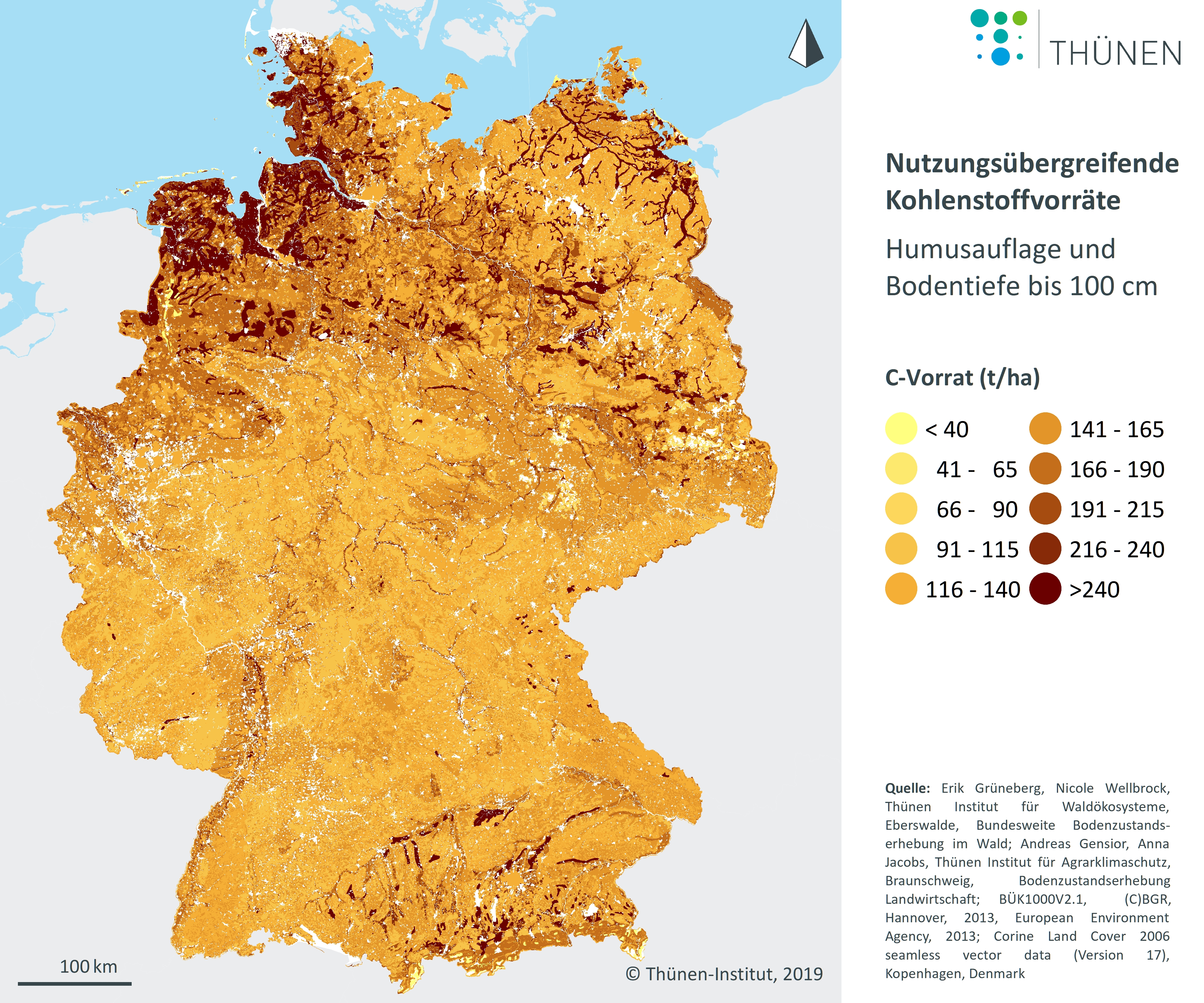 bodenqualität deutschland karte Humusstatus der Böden | Umweltbundesamt