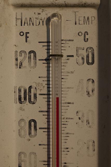 Ein Thermometer, das 37 Grad Celcius anzeigt.