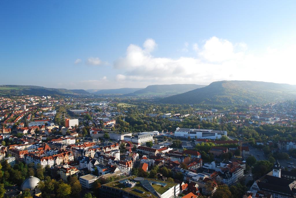Luftaufnahme der Stadt Jena