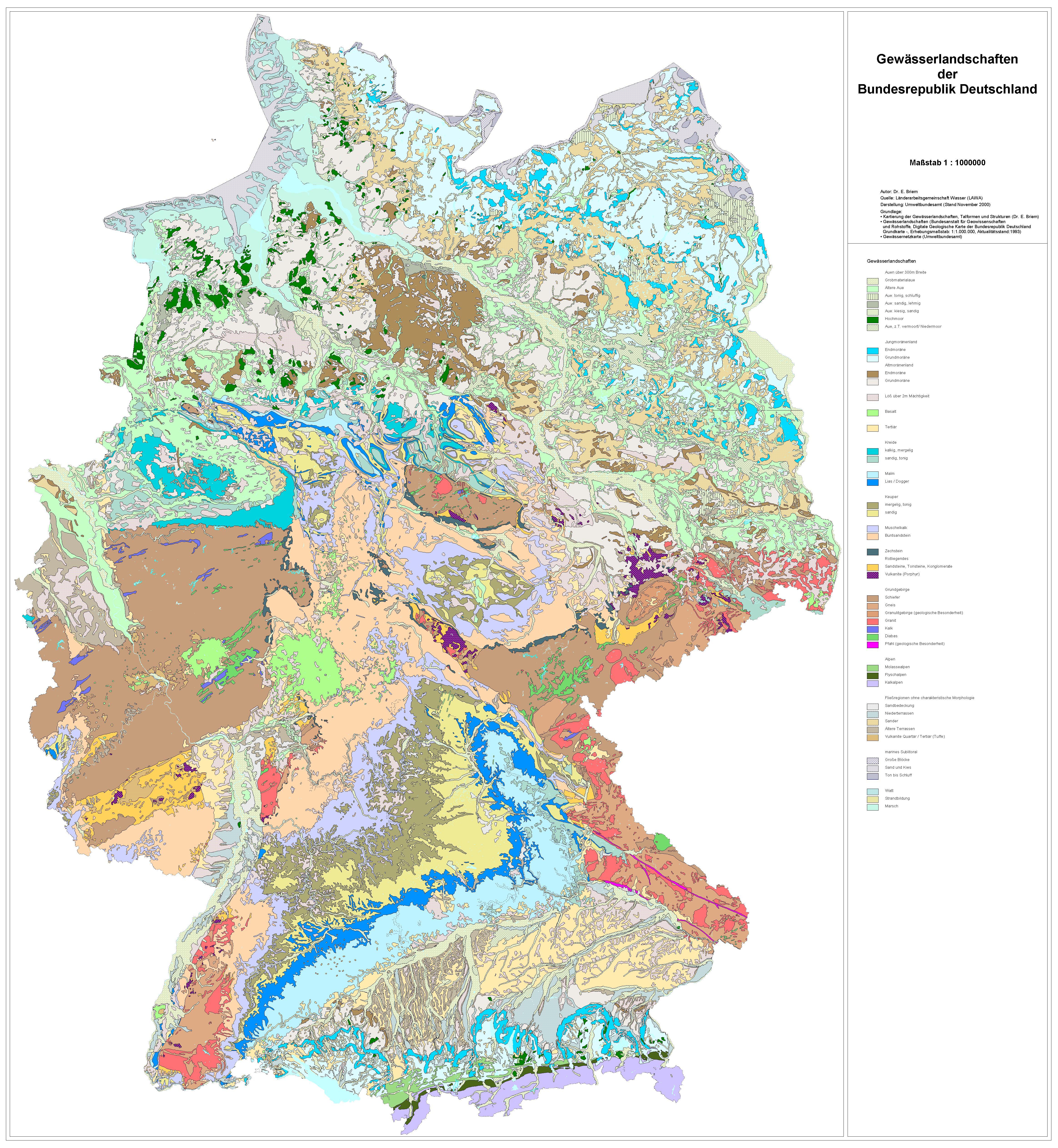 Gewässerlandschaften der Bundesrepublik Deutschland