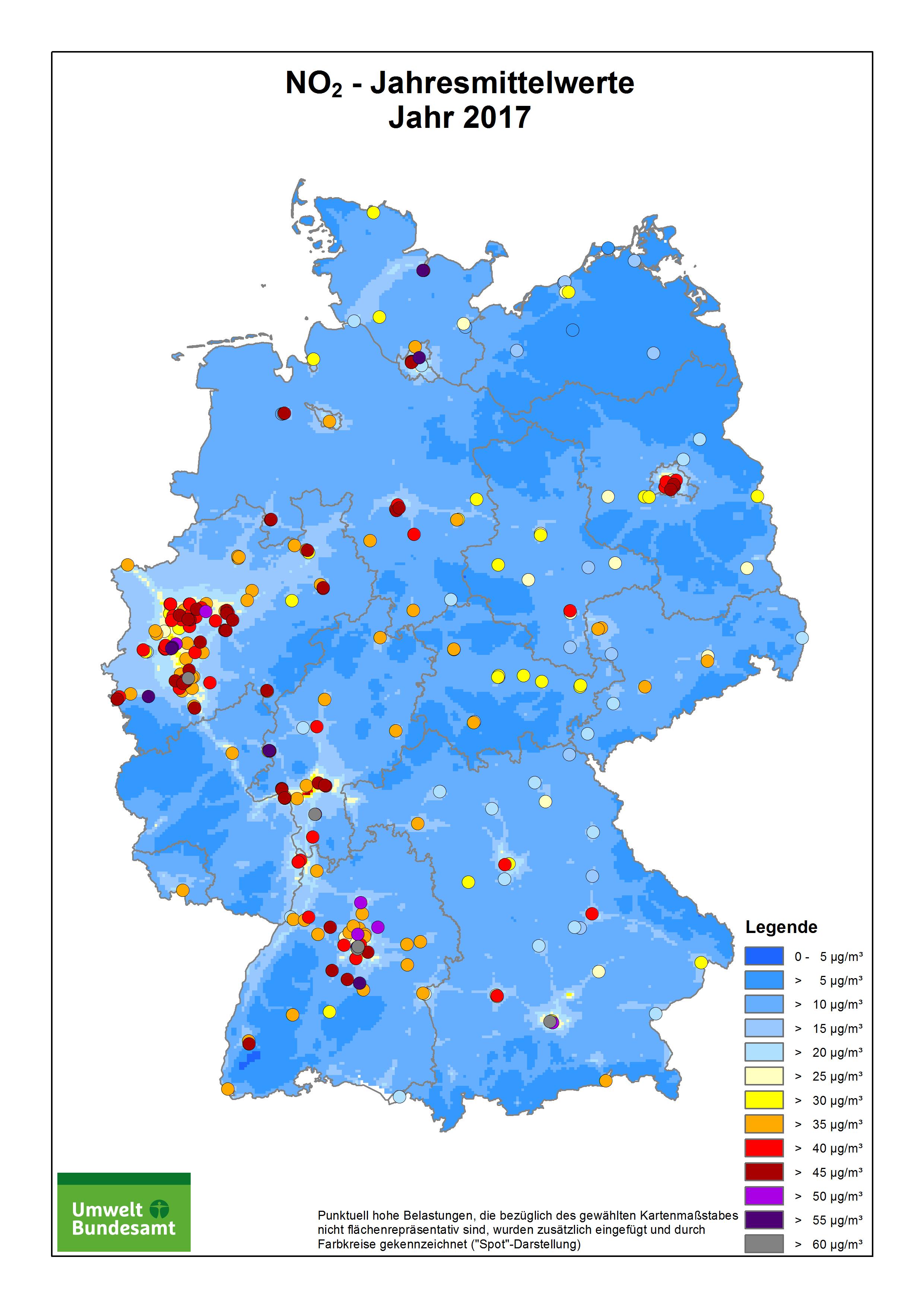 luftverschmutzung karte deutschland Daten und Karten | Umweltbundesamt