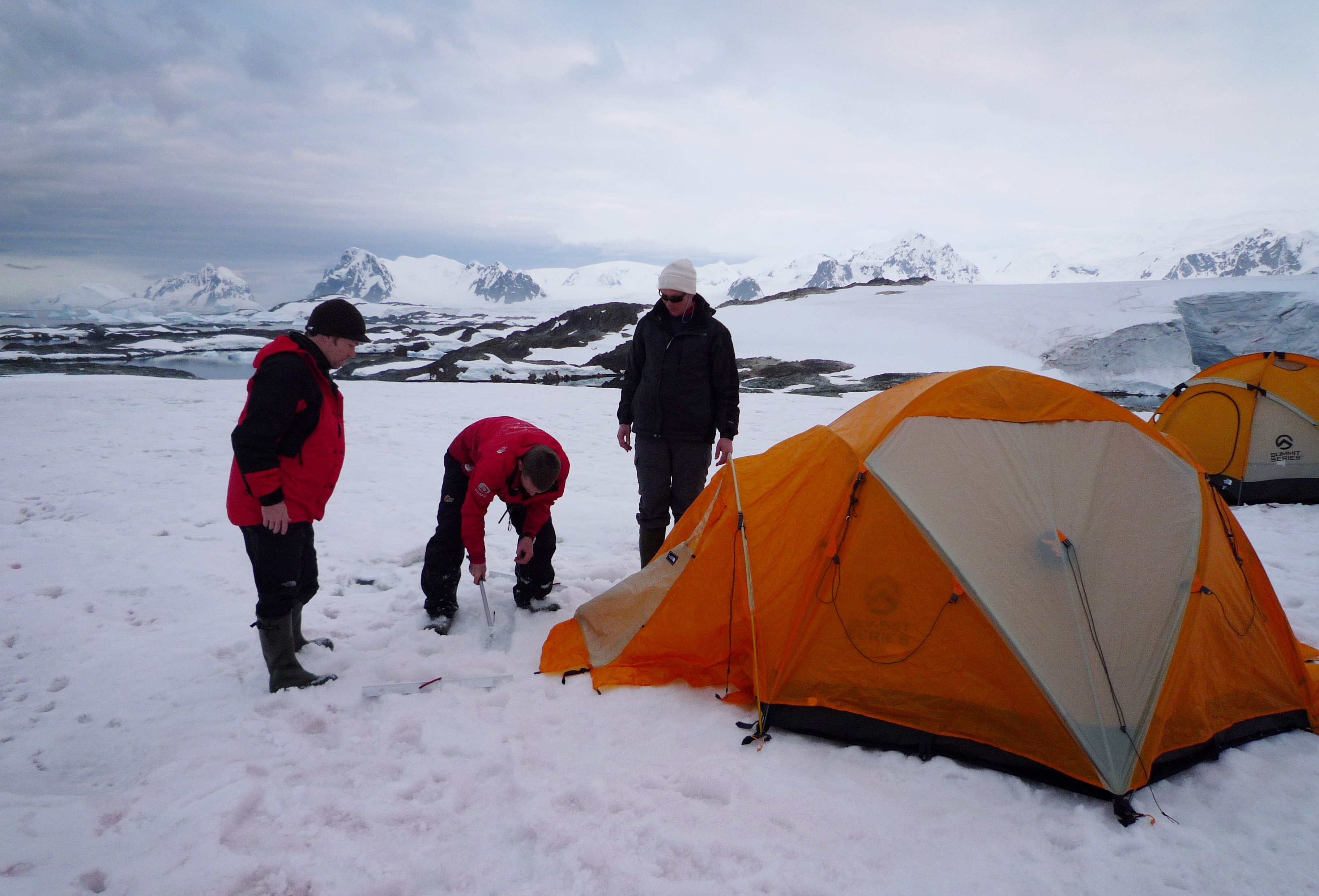 a piched tent camp