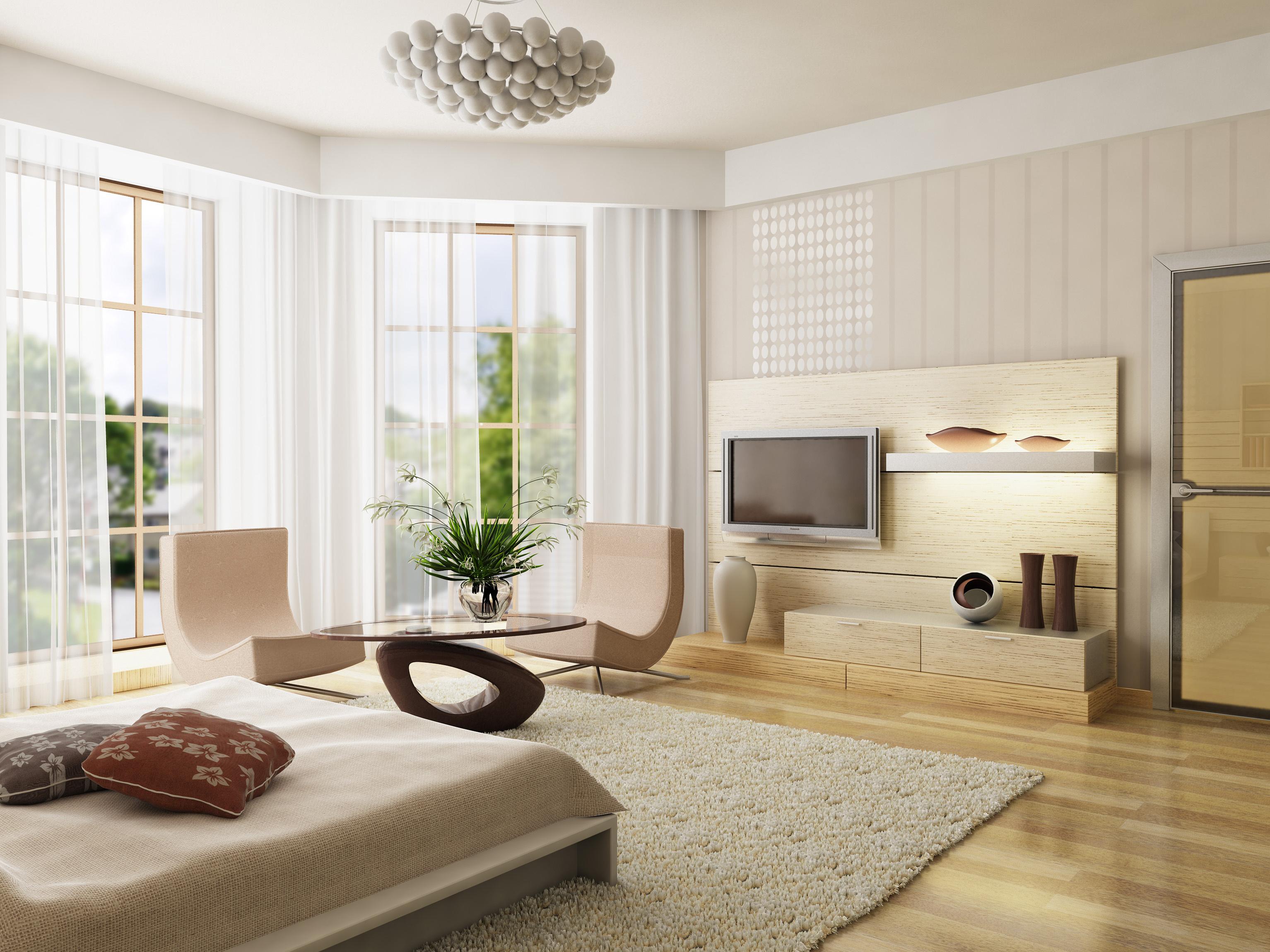 Ein modernes Wohnzimmer