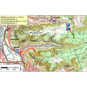 Kartendarstellung des Heimatkundlichen Lehrpfades Jena