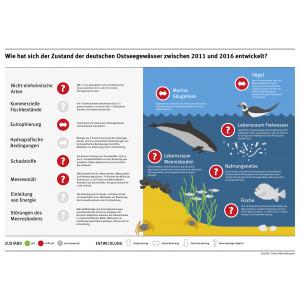 Infografik: Zustand der deutschen Ostseegewässer