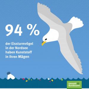 94% der Eissturmvögel in der Nordsee haben Kunststoff in ihren Mägen