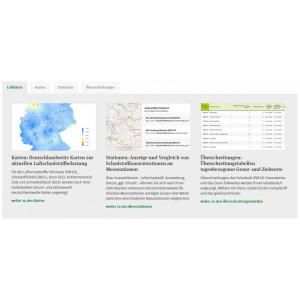 """Vorschaubild zur Anwendung """"Aktuelle Luftdaten"""""""