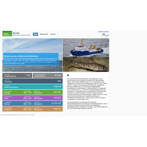 Einstiegsseite in die Meeresumweltdatenbank