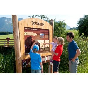 Station Zeitzeugen im Moor-Erlebnis-Pfad Inzeller Filzen