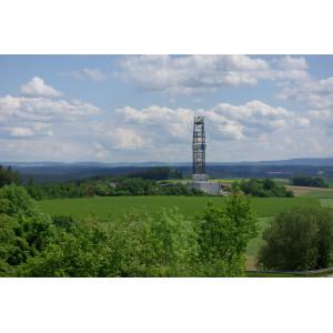 Blick auf das GEO-Zentrum an der KTB