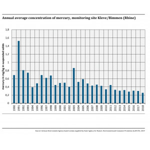 Annual average concentration of mercury