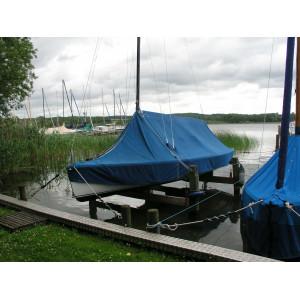 Selbstgebaute Bootshebeanlage für kleine Jollen, Ratzeburger See