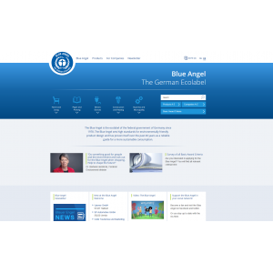Screenshot Blue Angel website