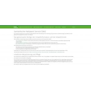 Startseite der Website Semantischer Netzwerk Service (SNS)