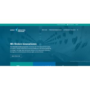 Startseite der Website des Umweltinnovationsprogramms