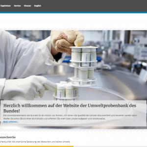 Startseite der Website Umweltprobenbank