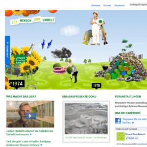 """Startseite der Website """"Für Mensch und Umwelt"""""""