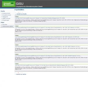 Startseite der Website des Geodateninfrastruktur (GISU)