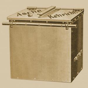 Container für Asche und Kehricht
