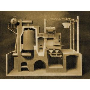 Modell einer Abfallverbrennungsanlage