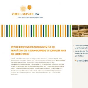 Startseite der Website www.viren-im-wasser.de