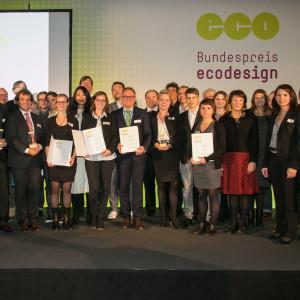 Bundespreis Ecodesign 2014 Gruppenbild mit allen Preisträgerinnen und Preisträgern