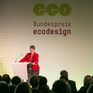 Bundespreis Ecodesign 2014 Bundesumweltministerin Hendricks