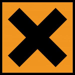 Kreuz auf orangenem Grund