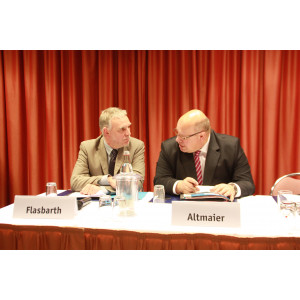 European Resources Forum 2012: Mr. Flasbarth (President UBA), Mr. Altmaier (Minister of BMU)
