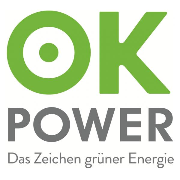 Logo Ok-Power für Ökostromprodukte