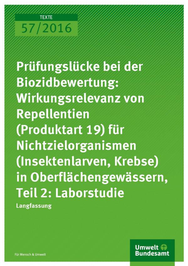 Cover Prüfungslücke bei der Biozidbewertung