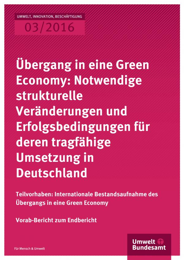 Übergang in eine Green Economy
