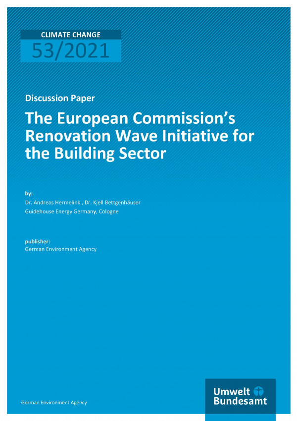 Cover of Climate Change 53/2021 The European Commission's Renovation Wave Initiative for the Building Sector