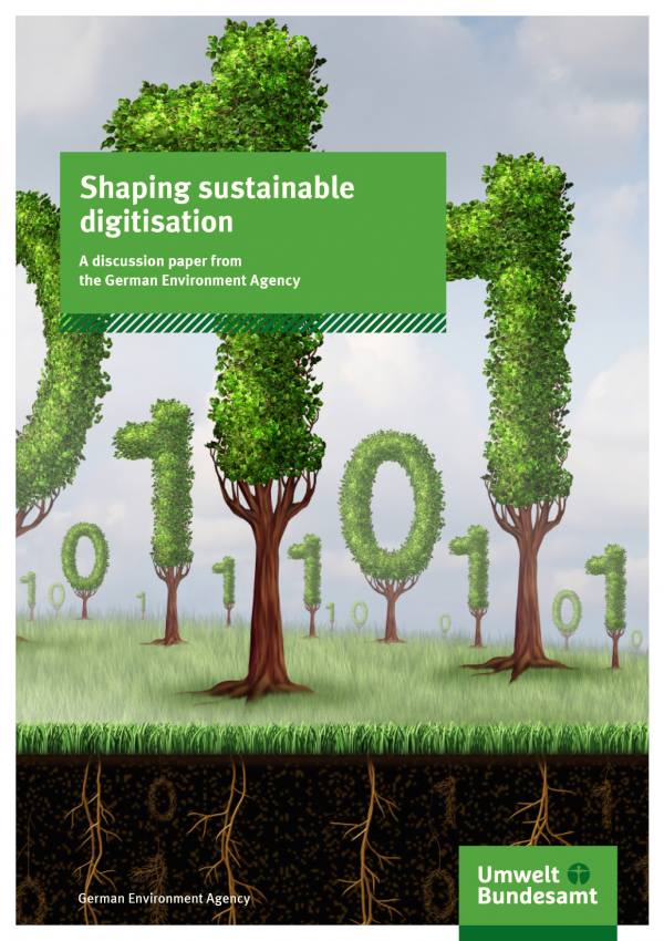 Cover of brochure Shaping sustainable digitisation