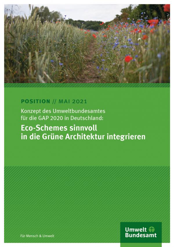 Cover des Positionspapiers Eco-Schemes sinnvoll in die Grüne Architektur integrieren