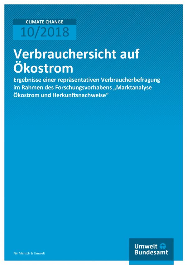 Cover der Publikation Climate Change 10/2018